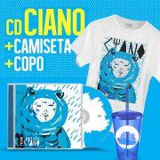 Combo Fresno CD Ciano + Camiseta Masculina + Copo