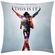 Almofada Desenhada Decora��o Michael Jackson com 2 pe�as tecido Microfibra - Almofada Digital
