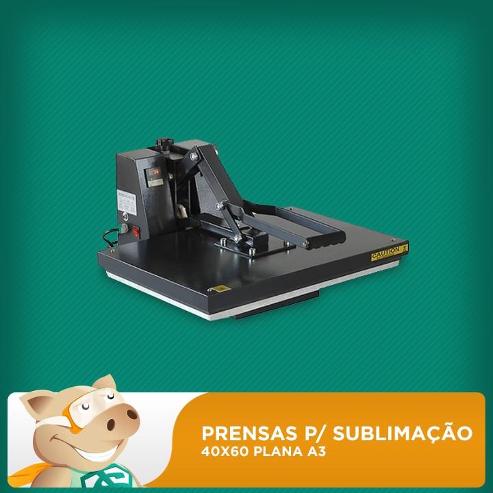 Prensa Térmica Para Sublimação / Transfer 40x60 Plana A3