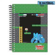 Caderno Turma da M�nica Pixel Cebolinha 10 Mat�rias