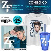 Pr�-Venda Combo Z� Felipe CD Proibido � Mais Gostoso AUTOGRAFADO + Camiseta + Copo