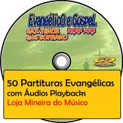 Trompete Partituras Evang�licas com Playbacks Gospel 50 M�sicas (Volume 1)