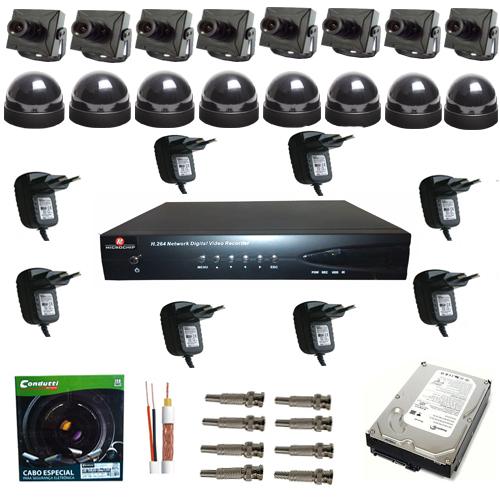 Kit sistema de monitoramento completo com 8 micro c meras for Kit da garage stand alone