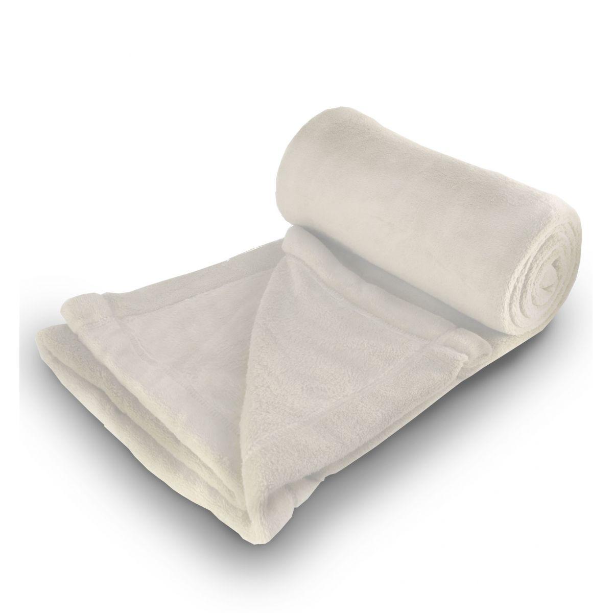 Cobertor de Microfibra Super King - Marfim