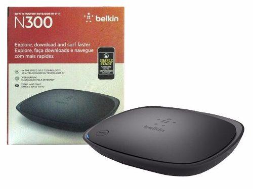 Roteador Wireless Belkin N300 Mpbs 2,4ghz 4 Portas 10 / 100 Mbps 2 Antenas Interna F9K1002