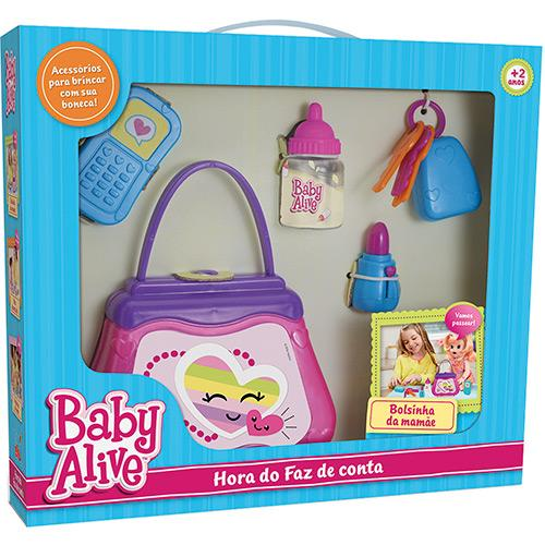 Hora do Faz de Conta Baby Alive Bolsinha da Mamãe Elka Ref. 987