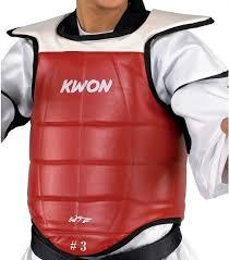 Colete Protetor de T�rax - Cordas - Homologado WTF - Kwon