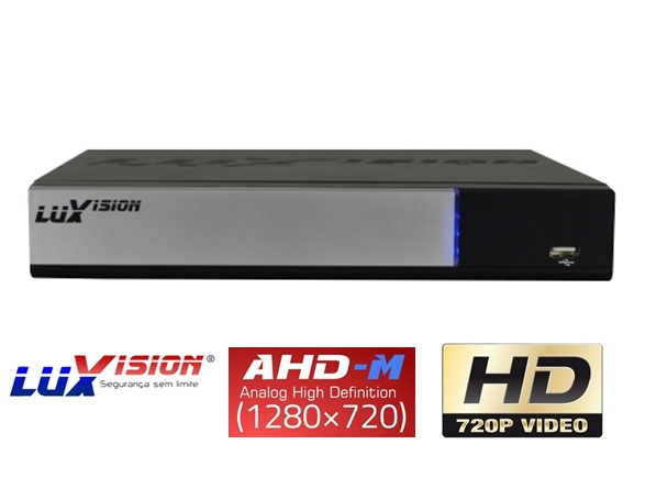 DVR Stand Alone AHD - M Smart Hibrido LuxVision 4 Canais de Video Em High Definition HD c / Saída HDMI