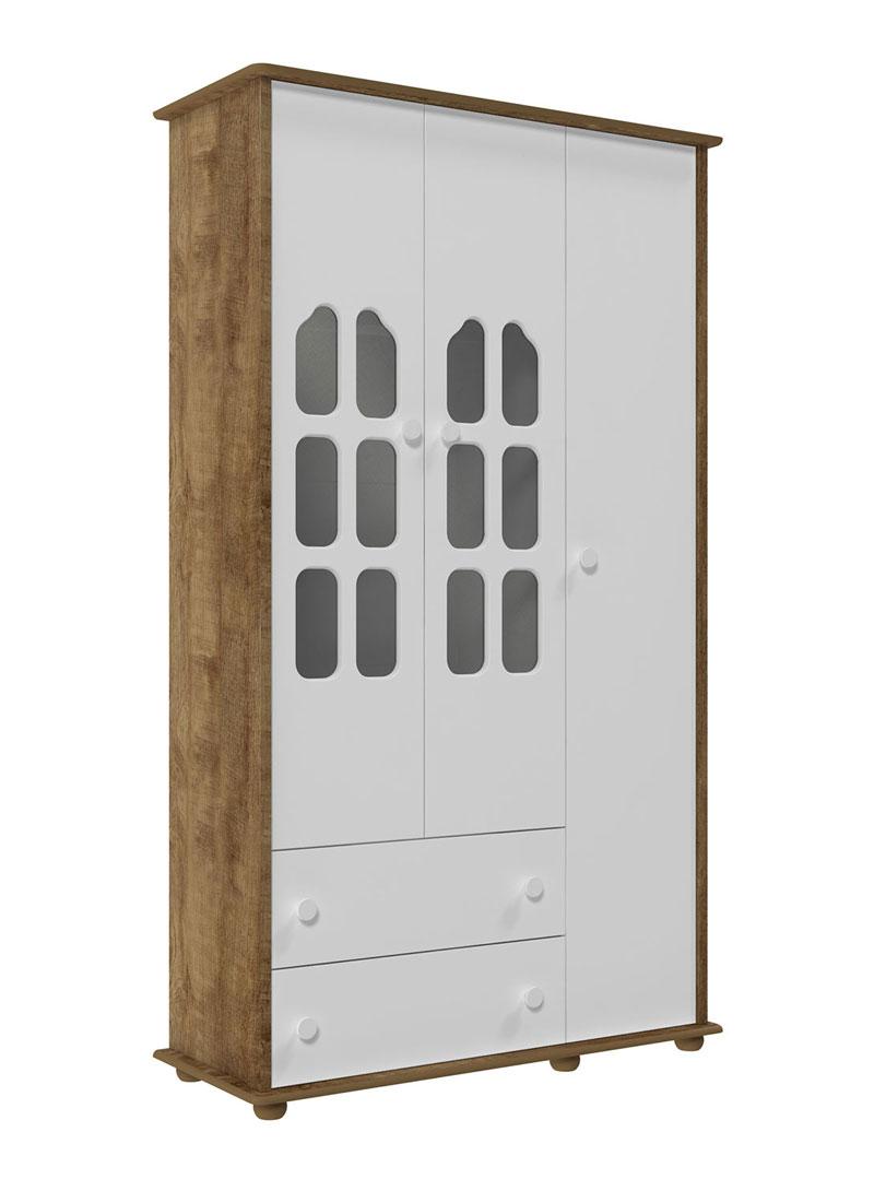 Guarda-Roupa Amore 3 Portas Branco Fosco com Teka - Matic M�veis
