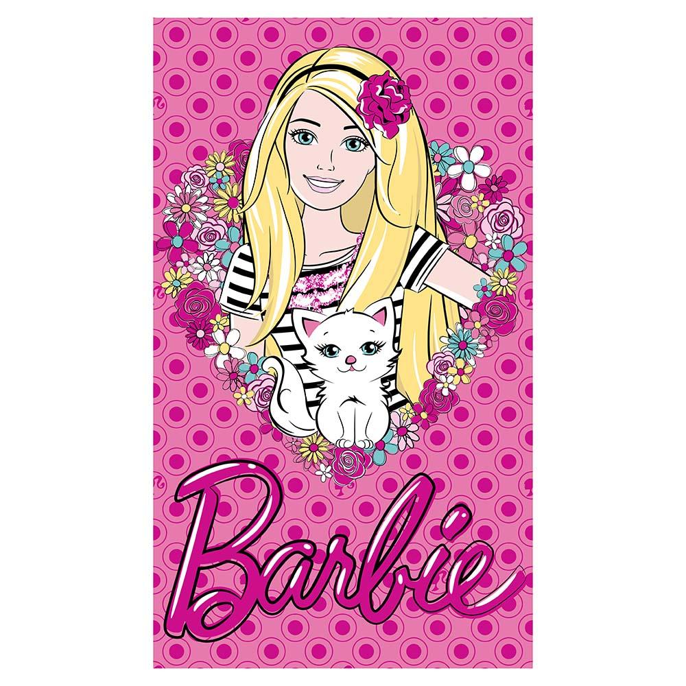 Toalha de Banho Infantil - Barbie Love - Light - Felpuda - Santista