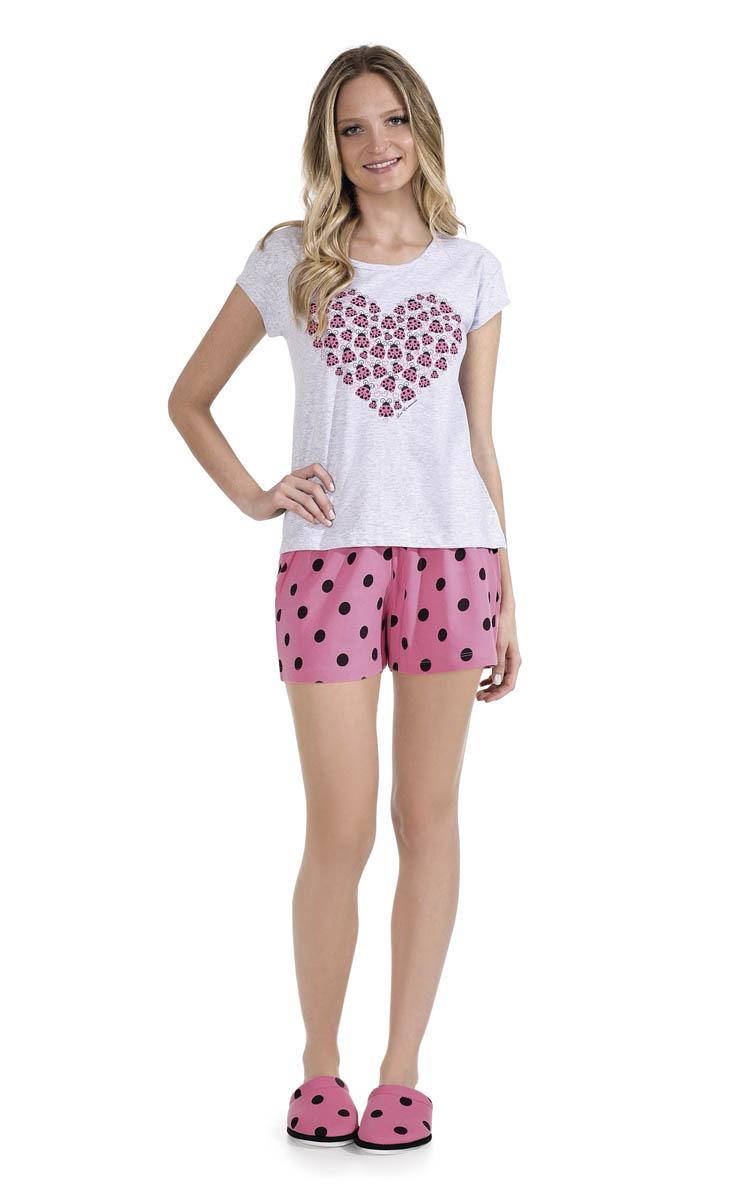 Pijama Feminino Adulto Lua Encantada Short Doll Love