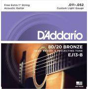 Encordoamento D Addario para Viol�o A�o EJ 13. 011-.052